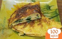 Фото рецепта: «Омлет с соевым соусом и сыром»