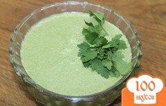 Фото рецепта: «Сливочный суп - пюре со шпината и овощей»