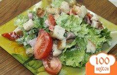 Фото рецепта: «Салат с копченым свиным балыком и овощами»
