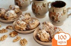 Фото рецепта: «Овсяное печенье на подсолнечное масле, с орехами»