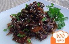 Фото рецепта: «Теплый салат из пекинской капусты и грибов в китайском стиле»