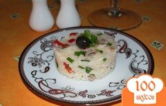Фото рецепта: «Теплый салат с рисом и индейкой»