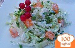 Фото рецепта: «Салат из яблока, пекинской капусты и апельсина»