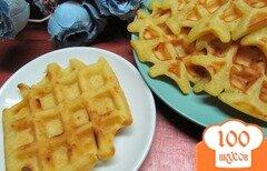 Фото рецепта: «Вафли с мандарином и плавленным сыром»