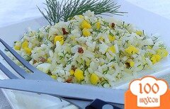 Фото рецепта: «Рис с орехами, яйцами и зеленью»