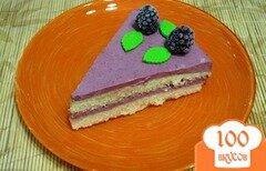 Фото рецепта: «Торт с желе из ежевики»