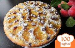 Фото рецепта: «Яблочный пирог с изюмом»