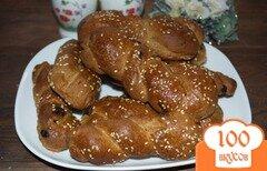 Фото рецепта: «Домашние булочки из 3 видов муки»