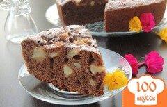 Фото рецепта: «Шоколадная шарлотка с грушей»