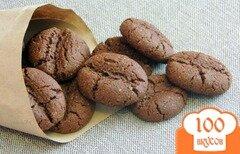Фото рецепта: «Шоколадно-кофейное овсяное печенье»