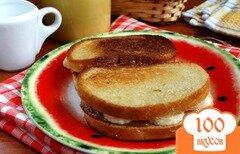 Фото рецепта: «Завтрак с бананами и сгущенкой»