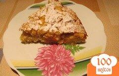 Фото рецепта: «Яблочный пирог с овсяными хлопьями»