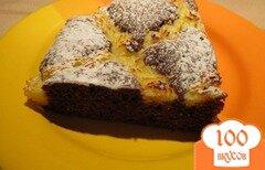 Фото рецепта: «Шоколадный пирог с творожным кремом»