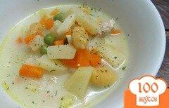 Фото рецепта: «Овощной суп с горошком и ньокки»