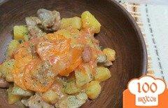 Фото рецепта: «Рагу с куриными желудками в мультиварке»