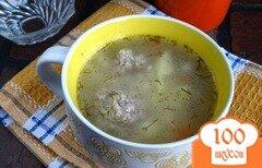 Фото рецепта: «Суп с фрикадельками в мультиварке»