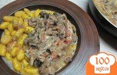 Фото рецепта: «Соус из отваренного мяса и грибов»