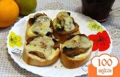 Фото рецепта: «Горячие бутерброды с грибами и двумя сырами»