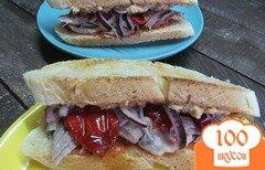 Фото рецепта: «Бутерброд с рулькой и печеночным паштетом»