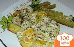 Фото рецепта: «Хек запеченный в сметане с картофелем»