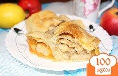 Фото рецепта: «Штрудель с яблоками и абрикосами»