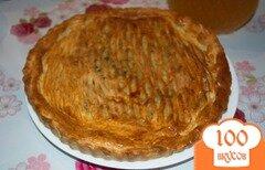 Фото рецепта: «Пирог в дорогу с сыром и зеленью»