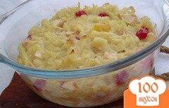 Фото рецепта: «Запеканка с макаронами,яблоками и вялеными ягодами»