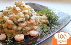 Фото рецепта: «Оливье с креветками.»