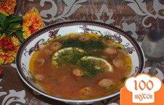 Фото рецепта: «Солянка домашняя с ветчиной, сосисками»