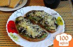 Фото рецепта: «Горячие тосты с авокадо и шампиньонами»