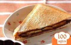 Фото рецепта: «Шоколадный сэндвич с бананом»