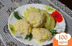 Фото рецепта: «Куриные котлеты с сыром на пару»