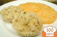 Фото рецепта: «Рыбное суфле с овощным пюре на пару»
