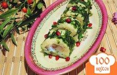 Фото рецепта: «Картофельные роллы с огурцом и сельдью.»