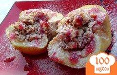 Фото рецепта: «Яблоки, запеченные с овсяными хлопьями и орехами»