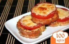 Фото рецепта: «Гренки с помидорами и сыром»