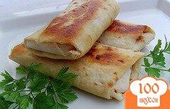 Фото рецепта: «Горячий бутерброд в лаваше»