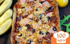 Фото рецепта: «Пицца с двумя видами колбасы»