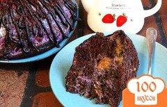 """Фото рецепта: «Чернично-манговый торт """"Пончо""""»"""