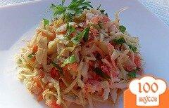 Фото рецепта: «Салат из моркови, капусты и копченого колбасного сыра»