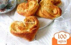 Фото рецепта: «Сладкие плюшки – сердечки»