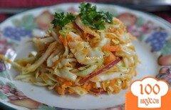 Фото рецепта: «Салат с капустой острый»
