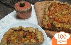 Фото рецепта: «Киш с домашней колбасой тыквой и сыром»