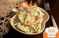 Фото рецепта: «Овощной салат из капусты и редиса»