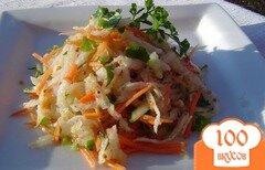 Фото рецепта: «Салат с редькой, огурцом и морковью»
