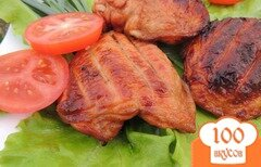 Фото рецепта: «Куриные бёдрышки в кефире и соевом соусе»