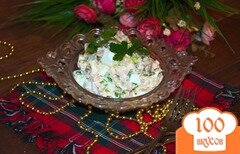 Фото рецепта: «Салат с индейкой и ананасами»
