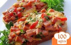 Фото рецепта: «Горячие бутерброды к завтраку»