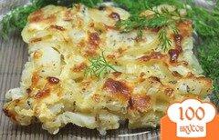 Фото рецепта: «Минтай запеченый с картофелем и сыром»