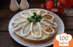 Фото рецепта: «Пирог из блинов с шампиньонами»
